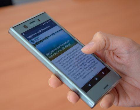 Baggerseen am Niederrhein in übersichtlicher Smartphone-App