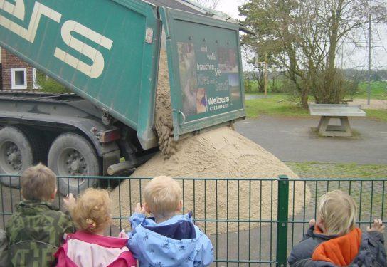 Kindergärten bekommen Sandspende