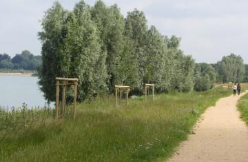 Engagement für den Niederrhein: Rad- und Wanderweg mit Sitzgruppe am Ellerdonksee